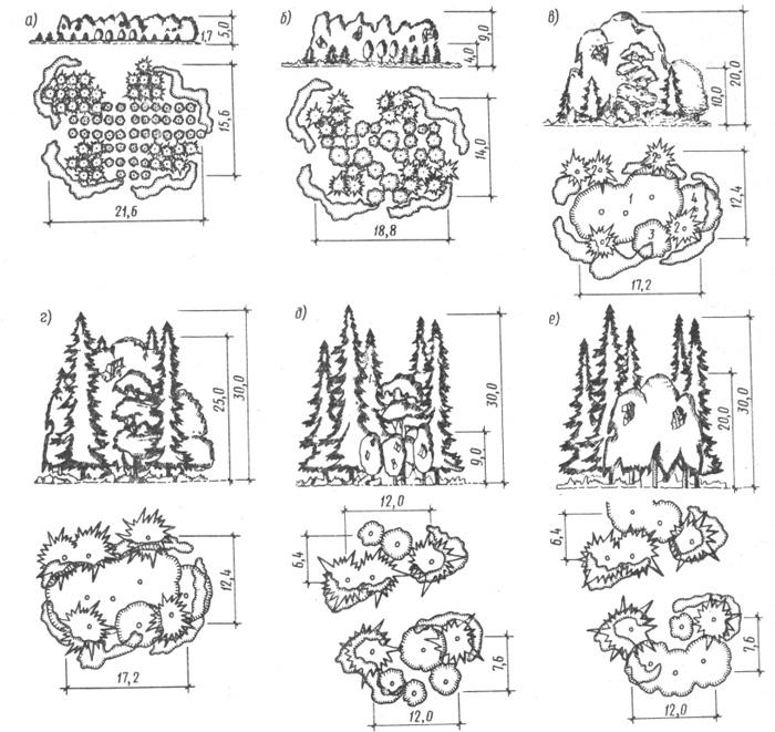 Группы деревьев схема