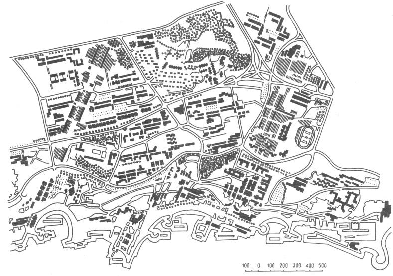 Схема планировки жилого района