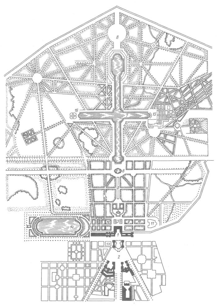 Версаль. План