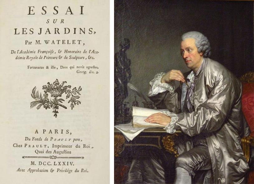 Claude-Henri Watelet. Essai sur les jardins. Paris, 1774. Опыт о садах. Клод-Анри Ватле