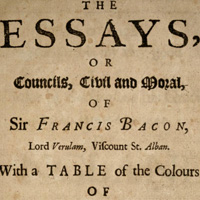 Francis Bacon. Essayes: Religious Meditations. Places of Perswasion and Disswasion. Seene and Allowed (1625). ХLVI. Of Gardens. Фрэнсис Бэкон. О садах. ХLVI (Опыты и наставления нравственные и политические)