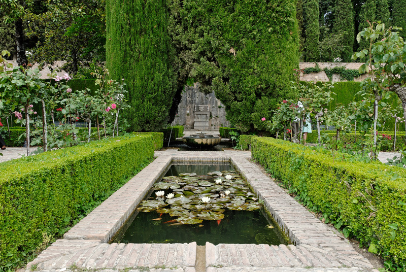 Сады Гранады Альгамбра и Генералиф alhambra generalife  Генералиф Сад султана generalife jardin de la sultana