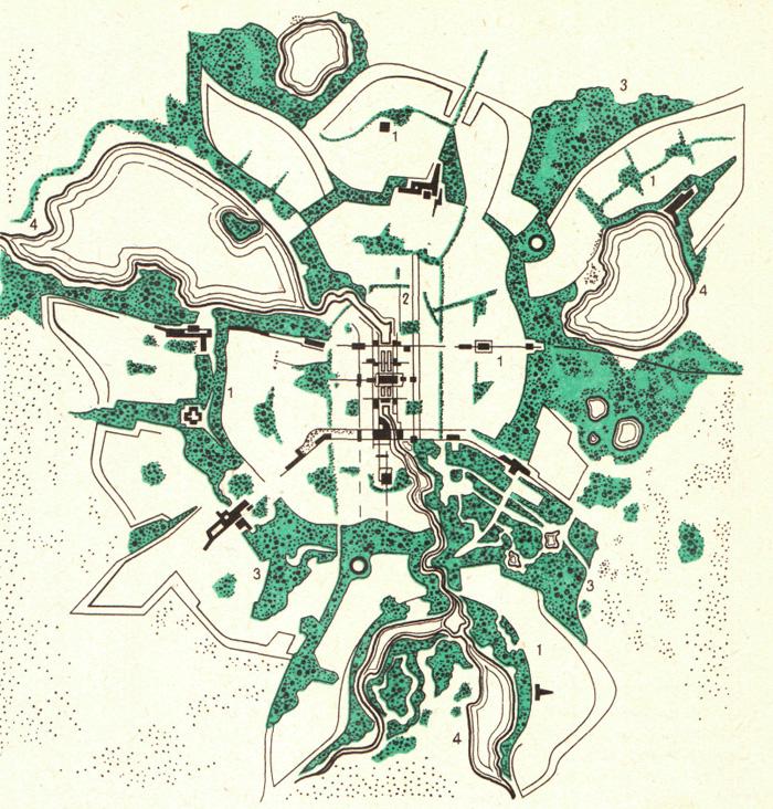 Схема озеленения Екатеринбурга