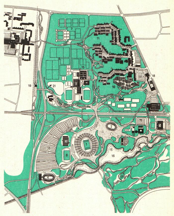 Рис. 5.4. Олимпийский парк в Мюнхене