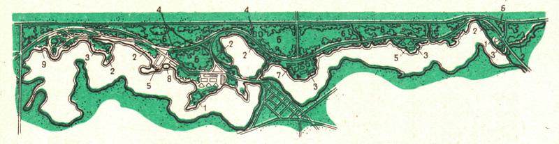 План гидропарка «Озеро