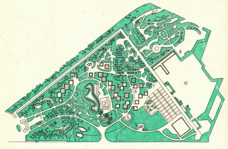 Рис. 5.6. Пример планировочной организации выставочного парка