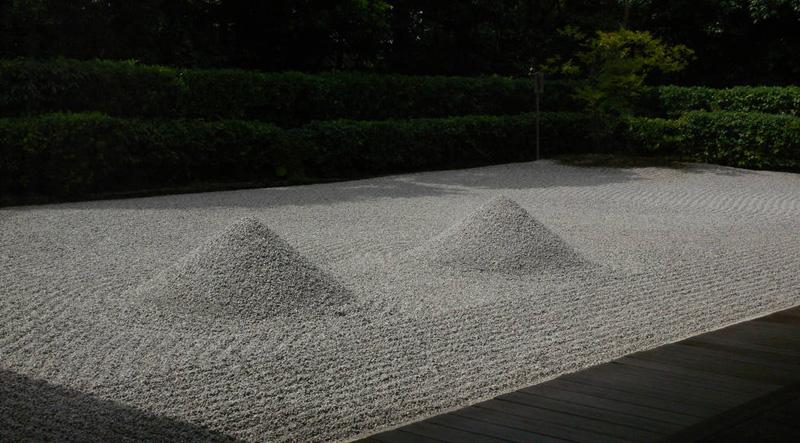 Сад «Океан Пустоты» в храме Дайсэн-ин. Монастырский комплекс Дайтокудзи в Киото