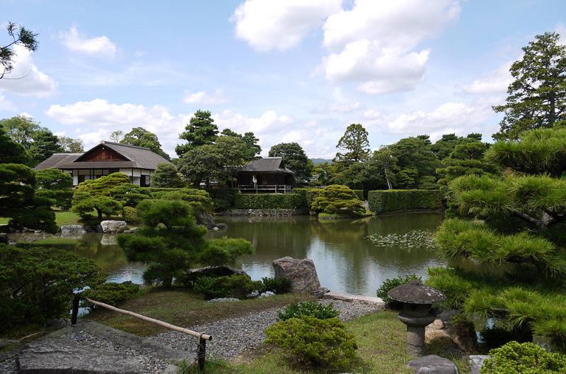 Японский сад. Сад императорской виллы Кацура Рикю в Киото. Katsura Imperial Villa