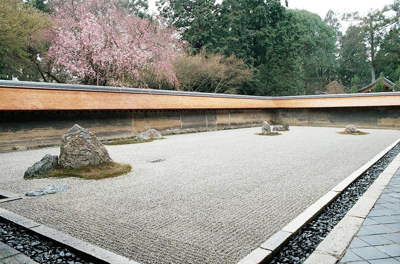 Сад храма Рёандзи в Киото