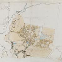 План Богородицкого парка. Правая половина. Лист из альбома «Виды имения Бобринских Богородицк». 1786—1787 гг.