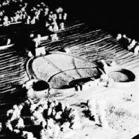 Мемориал Бухенвальд. 1952 г. Эскиз группы Лингнера - Кремера