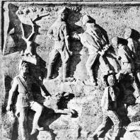 """Бухенвальд. Ханс Кииз. Рельеф третьей стелы """"Каменоломня"""""""
