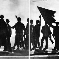 Бухенвальд. Фриц Кремер. Памятник. Вид с Башни Освобождения
