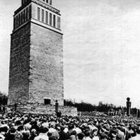 Торжественное открытие Национального Бухенвальдского мемориала. 14 сентября 1958. Фото: Ernst Schäfer