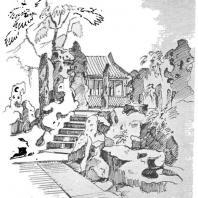 8. Уголок парка в городе Сучжоу, оформленный камнями