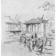 10. Веерный павильон «Юшей-тун-цзо» в парке города Сучжоу