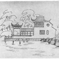 14. Павильон Чженъ-суань-лоу в парке города Сучжоу