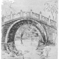16. Арочный мостик в парке