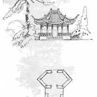 21. Шестиугольный павильон «Джи-лэ-тхин» в парке города Сучжоу