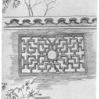 25. Обработка проема в стене, так называемое «проникающее окно» в парке города Сучжоу