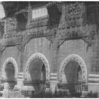 35. Парк Бэйхай. Кирпичные ворота пайлоу, облицованные керамическими фигурными плитками и мрамором