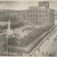 Рис. 8. Сквер на Советской площади в Москве. Общий вид. Арх. А. В. Власов