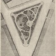 Рис. 12. Лермонтовский сквер у Красноворотской площади в Москве. План