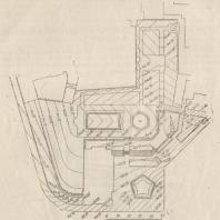 Рис. 23. Сквер на Арбатской площади в Москве. Проект вертикальной планировки. Инж. А. П. Лавкуняс