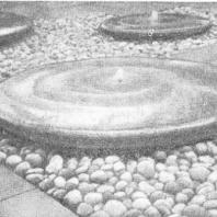 Декоративный фонтан «Тарелки» на территории Всемирной выставки 1958 г. Брюссель. Бельгия