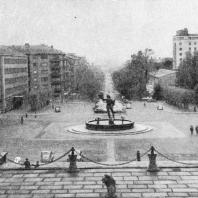 Фонтан на площади перед музеем Искусств. Скульптор Миллес К. Гётеборг. Швеция