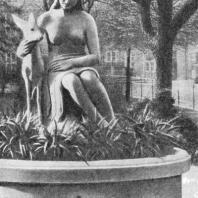 Фонтан на площади Скульптор Ригель. Братислава. ЧССР