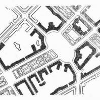 Декоративный бассейн с фонтаном. Площадь Ленина. Ереван. План площади с размещением фонтана