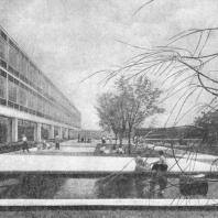 Декоративный бассейн в общественном центре. Блюменфельд. США