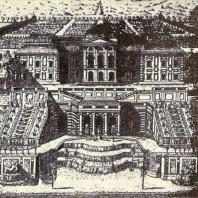 Верхние палаты в Петергофе. 1717. Гравюра А. Ростовцева