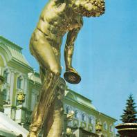 Петергоф. Большой каскад. Восточная сторона. Фавн Флорентийский. 1800
