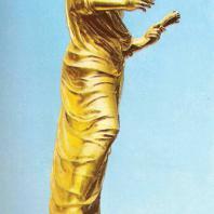 Петергоф. Большой каскад. Восточная сторона. Церера — богиня плодородия и земледелия. 1801. Золоченая бронза. Скульптор Ф. Гордеев. С античного оригинала отливал В. Екимов