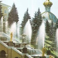 Петергоф. Большой каскад. Симфония фонтанов