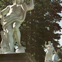 Петергоф. Каскад «Шахматная гора». Статуя «Юпитер». Начало XVIII века