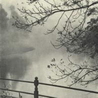 Царское Село. Екатерининский парк. Нижний пруд в тумане. Фотограф М.А. Величко