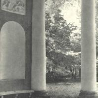 Царское Село. Екатерининский парк. Концертный зал. Вид из ротонды. Фотограф М.А. Величко