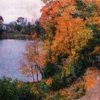 Ломоносов (Ораниенбаум). Пруд у Большого дворца