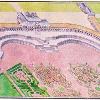 Ломоносов (Ораниенбаум). Большой дворец. Перспектива со стороны сада