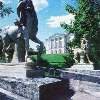 Павловск. Вид от моста с кентаврами на дворец