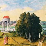 Богородицкий парк. Акварель А.Т. Болотова