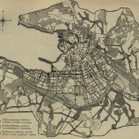 Ленинград. Схема зеленых насаждений