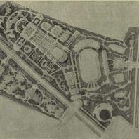 Магнитогорск. Проект планировки парка (арх. И.М. Петров. Госзеленстрой)