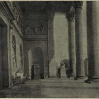 Стоу (Англия). Вид в парк из колоннады дворца