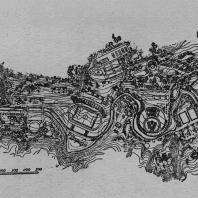 Сталинград. Проект планировки парка. Генплан (арх. М.П. Коржев и А.С. Коробов. Госзеленстрой)