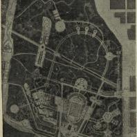 Ижевск. Проект планировки парка. Генплан (арх. А.С. Коробов. Госзеленстрой)