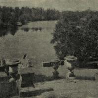Павловский парк. Вид запруды, у Мариенталя